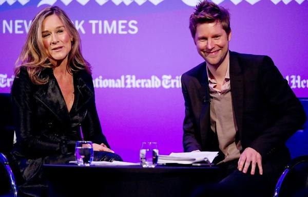 Departing Burberry Chief Executive Angela Ahrendts, left, and the label's chief creative officer, Christopher Bailey, in 2010. Bailey will succeed Ahrendts as CEO in mid-2014 when she leaves for Apple, the British luxury brand announced.