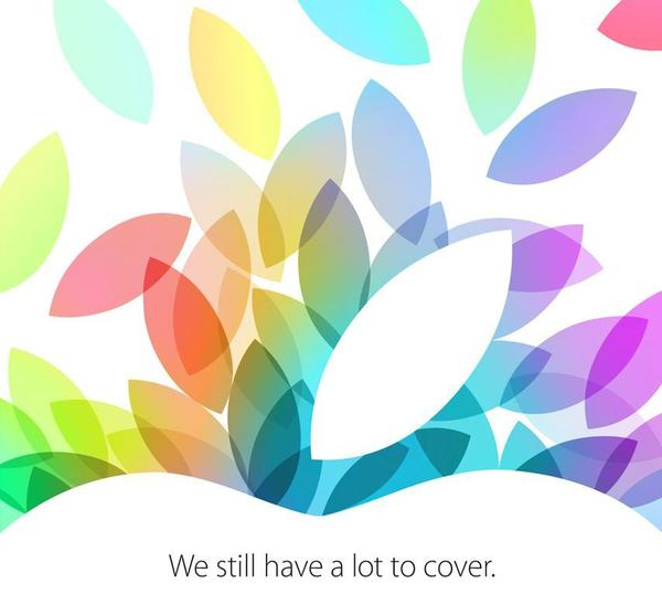Apple sent out press invitations Tuesday morning for its next product announcement, which will be held Oct. 22.