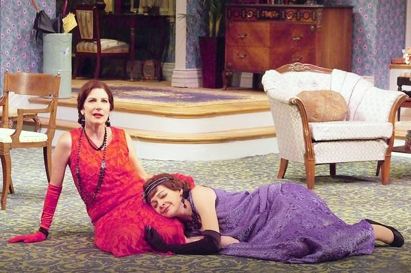 "Colette Kilroy, left, and Katie MacNichol star in Laguna Playhouse's ""Fallen Angels,"" which runs until Nov. 3."