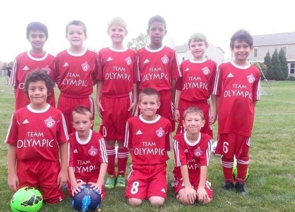 The Plainfield U10 soccer team.