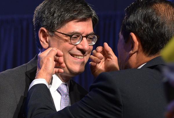 Treasury Secretary Jacob J. Lew at the recent G-20 summit. Nothing to smile about today.
