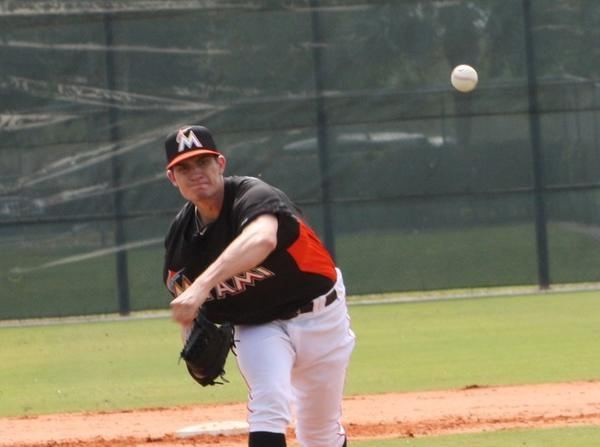 Baseball America ranked Andrew Heaney the ninth-best prospect in the Class-A Florida State League. (file photo)