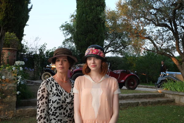 "Marcia Gay Harden and Emma Stone in Woody Allen's ""Magic in the Moonlight."""