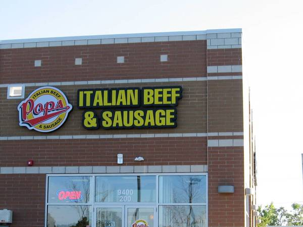 Pop's Italian Beef & Sausage opened last month at 9400 W. 159th St. in Orland Park.
