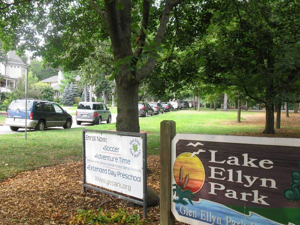 Lenox Road by Lake Ellyn Park will be widened next year.