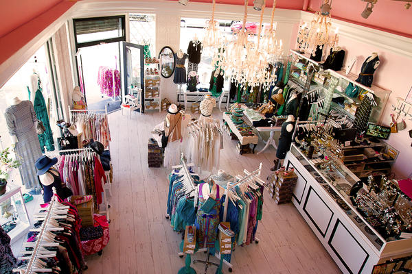 A colorful mix of merchandise is displayed in Polkadots & Moonbeams' new store.