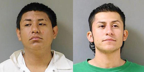Edward Gonzalez (left) and Eduardo Medina were each charged with one felony count of vehicular hijacking.