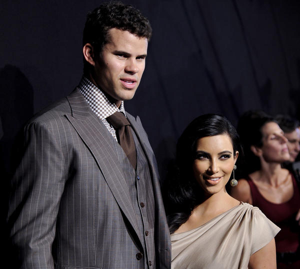 Kris Humphries and Kim Kardashian in 2011, just two months before the bride would file for divorce from her hoopster husband.