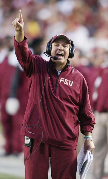 FSU coach Jimbo Fisher says he refuses to root against higher-ranked teams.