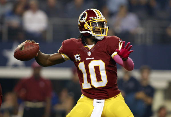 Washington Redskins quarterback Robert Griffin III has been in a bit of a slump coming off knee surgery.