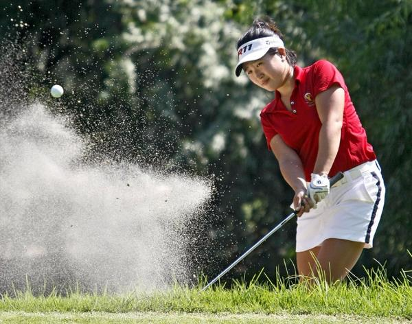 ARCHIVE PHOTO: La Canada High's Melissa Leo took second at the Pacific League girls' golf individual finals Tuesday.