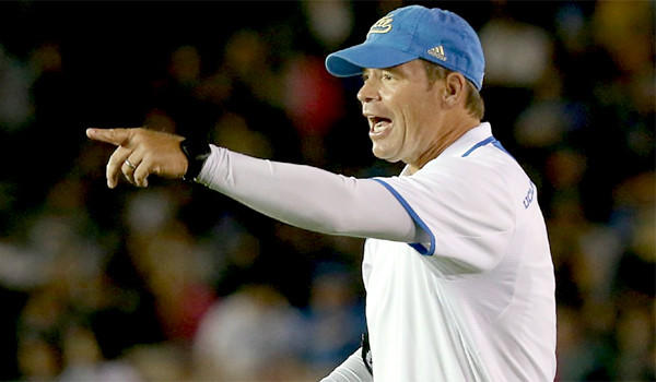 UCLA Coach Jim Mora, like former Stanford Coach Jim Harbaugh, seeks to change the way the Bruins football program is viewed. He'll get a chance to make a new impression when UCLA faces Stanford in Palo Alto on Saturday.