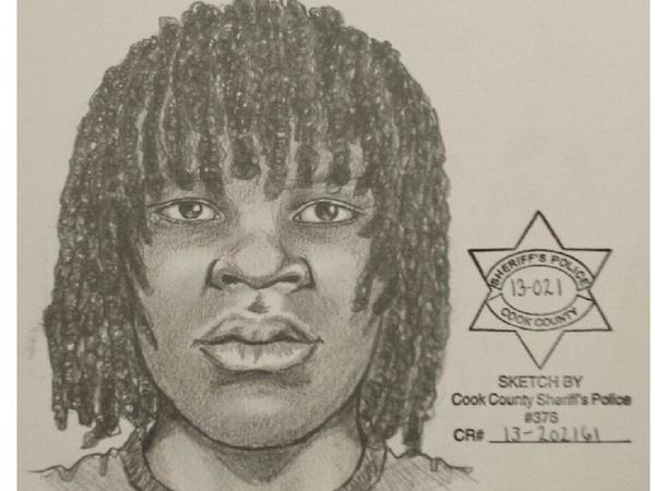Sketch of a man in three sexual assaults on the Far South Side last week.