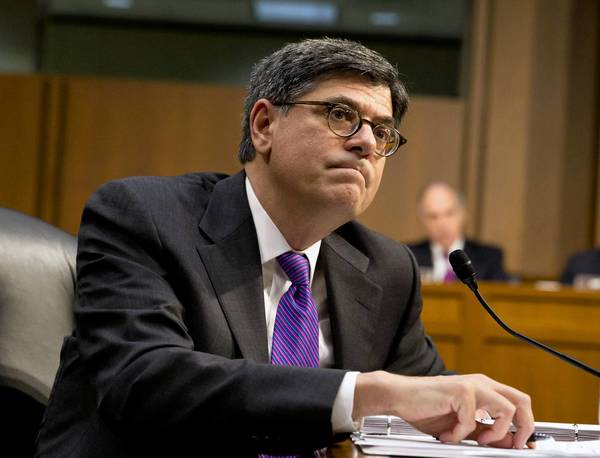 Treasury Secretary Jacob Lew listens while testifying on Capitol Hill this month.