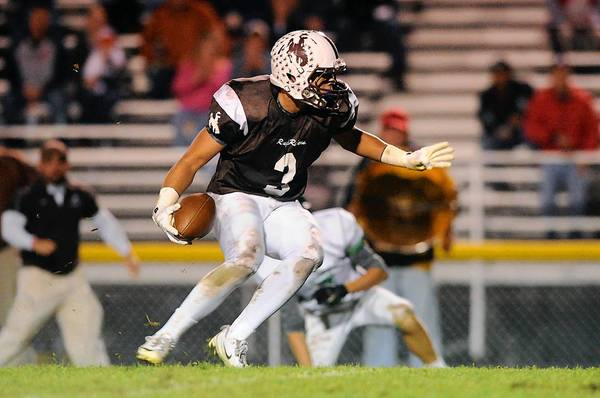 Catasauqua's Paryss Marshall looks for more yardage after a reception against Pen Argyl last Friday night.