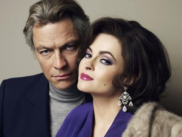 "Dominic West and Helena Bonham Carter play ""Burton and Taylor."""
