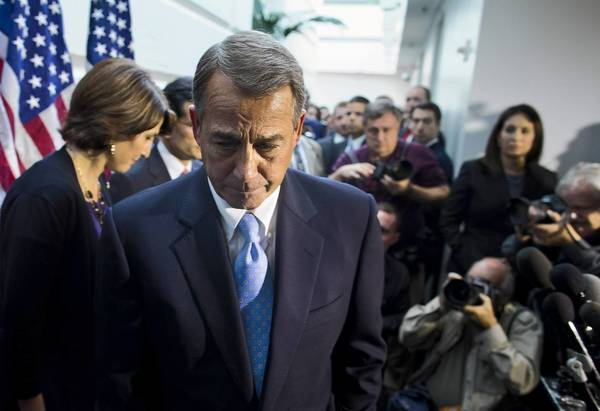 House Speaker John A. Boehner (R-Ohio) failed to win his party's support for a budget deal in the House. But he has already accepted much of the framework of a bipartisan Senate agreement.