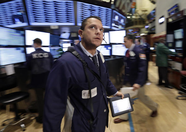 Trader Michael Zicchinolfi on the floor of the New York Stock Exchange on Tuesday.