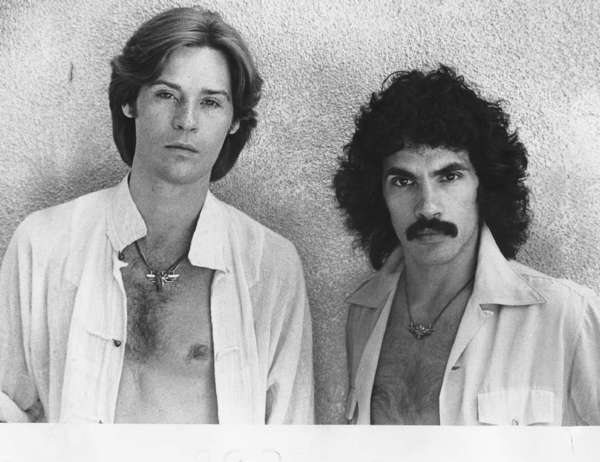 Daryl Hall, left, and John Oates at UCLA in May 1977.