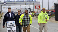 Port operations halted as longshoremen strike