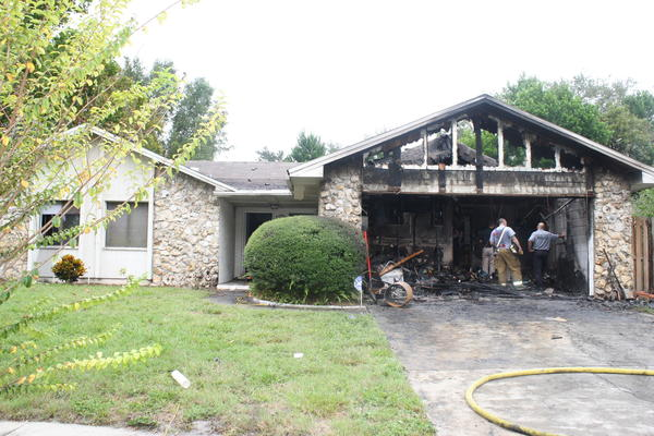 The residents -- a mother, son and daughter -- said the fire happened at 6:25 a.m. in the 100 block of Tralee Court.
