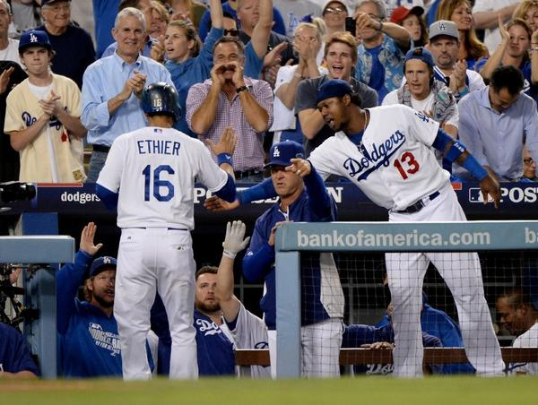 Andre Ethier and Hanley Ramirez (No. 13) will be in the lineup for Game 5.