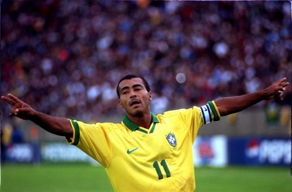 Romario, shown playing for Brazil in the 1998 World Cup, is using his current position as a congressman to criticize FIFA, Sepp Blatter and the planners of the 2014 World Cup headed for his country.