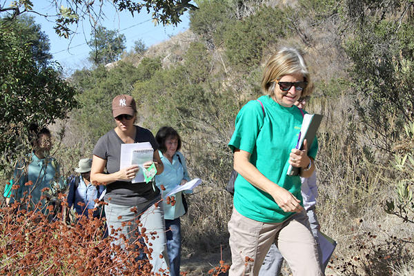 Erin Atwater helps train volunteer docents at the Rosemont preserve in La Crescenta on Tuesday, October 16, 2013.