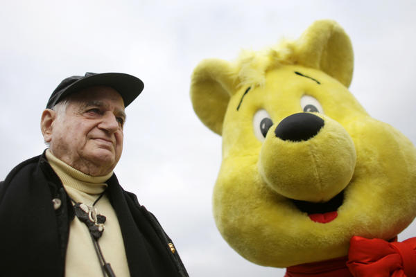 This Oct. 22, 2009, photo shows Hans Riegel, the longtime marketing executive of German candy maker Haribo who took the gummi bear to international fame, in Bonn, Germany. Haribo said in a statement that Riegel, the son of the company's founder, died of heart failure in Bonn on Tuesday. He was 90.