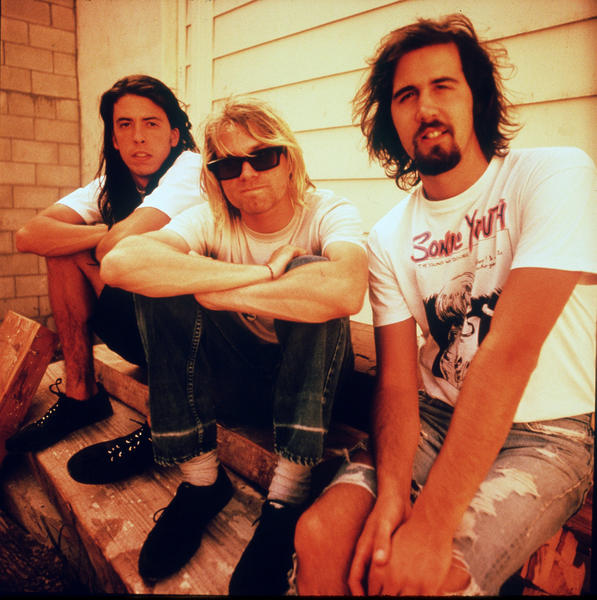 Seattle grunge-rock group Nirvana leads fan voting for induction into the Rock and Roll Hall of Fame on the first day of balloting.