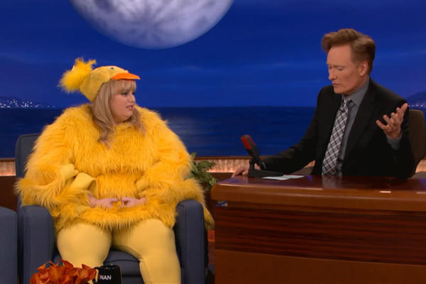 Actress Rebel Wilson discusses taboo jokes with Conan O'Brien on his late-night cable show.