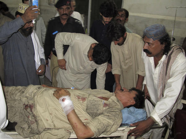Man injured in suicide attack
