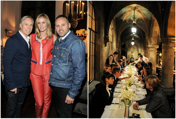 From left, Tommy Hilfiger, Dee Hilfiger and George Esquivel at a dinner, right, at the Chateau Marmont to mark the launch of a collaborative footwear collection.