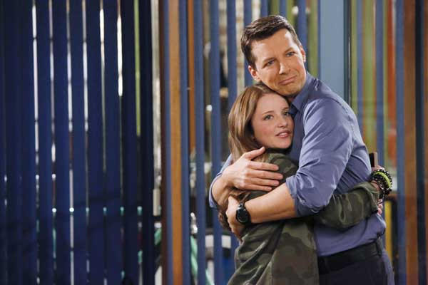 """A single dad and his daughter (Sean Hayes and Samantha Isler) in """"Sean Saves the World."""""""