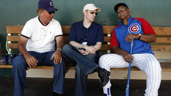 Ron Santo, from left, Len Kasper and Billy Williams at Cubs spring training in 2009. The longtime Bannockburn home of Chicago Cubs legend Ron Santo has sold for $710,000. Full story