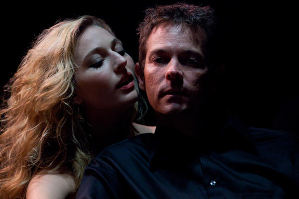 "Piper Rae Patterson and Tim Williams star in ""Venus in Fur"" at Mad Cow Theatre."