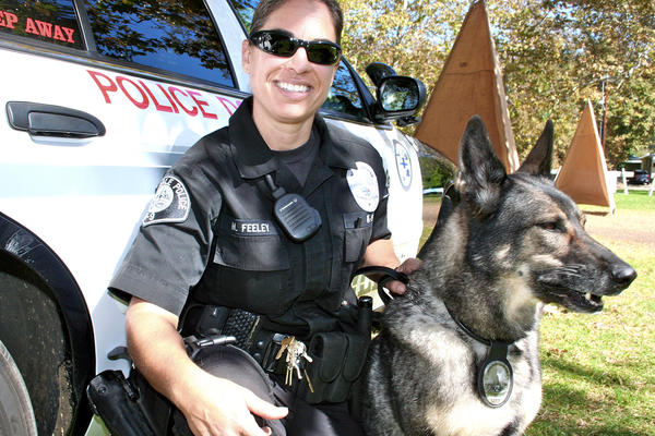 Glendale Police Dept. K-9 Officer Maribel Feeley and her K-9 partner, Yudy, help keep Glendale safe.