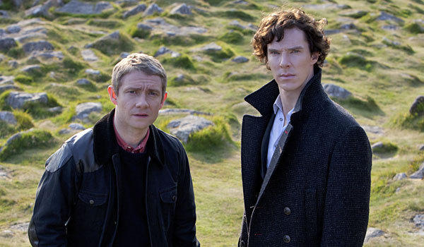 Martin Freeman, left, and Benedict Cumberbatch star in 'Sherlock'