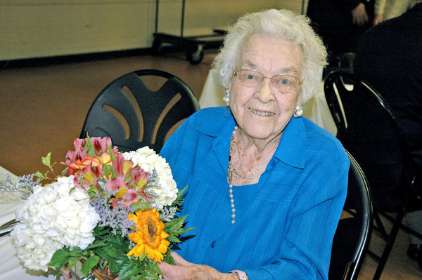 Gertrude Ness of Glendale continues an active life of volunteering at the age of 107 and will receive the Woman of Distinction award during the Patrons Club of Glendale Community College Foundation Fashion Show Luncheon on Nov. 1 at the Castaway Restaurant in Burbank.