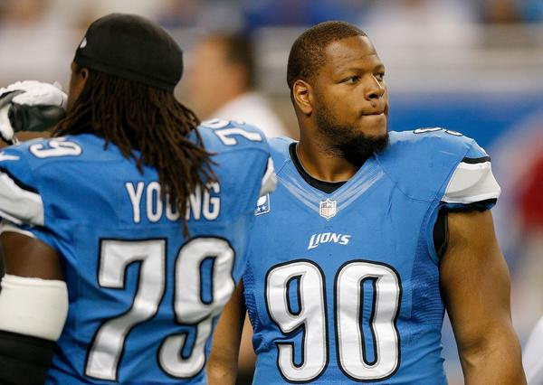 Ndamukong Suh (90) is in hot water again with the NFL.