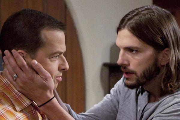 "Jon Cryer, left, and Ashton Kutcher of ""Two and a Half Men"" have been named TV's highest-paid actors of 2013 by Forbes."