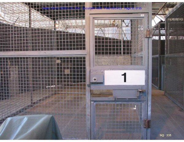 "A ""walk alone"" exercise pen at San Quentin where condemned inmates with restricted privileges are isolated from others."
