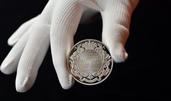 Prince George's christening, commemorative coin
