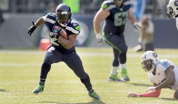 Marshawn Lynch has rushed for 487 yards for five touchdowns through six games for the Seattle Seahawks who will travel to Arizona to face the Cardinals on Thursday.
