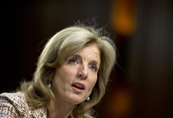 Caroline Kennedy testifies before the Senate Foreign Relations Committee.