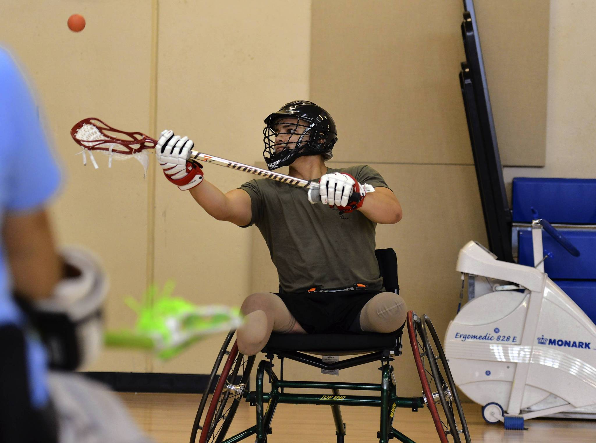 Wounded service members take on wheelchair lacrosse, embrace sport for it physicality, mental benefits