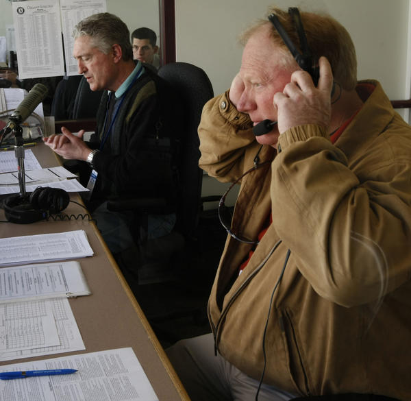 Cubs radio partners Pat Hughes and Keith Moreland.