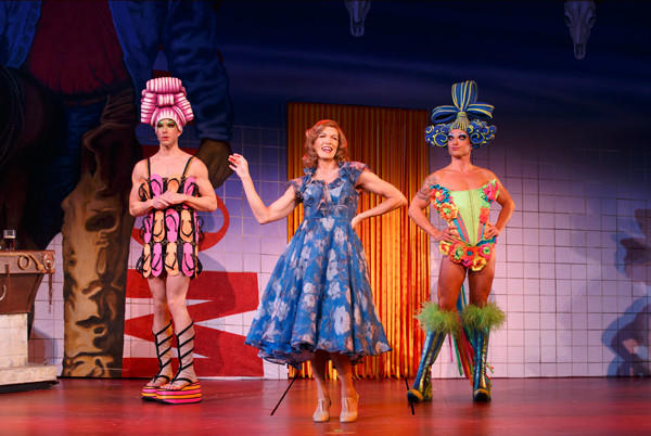 "Wade McCollum, left, Scott Willis and Bryan West in ""Priscilla Queen of the Desert."""