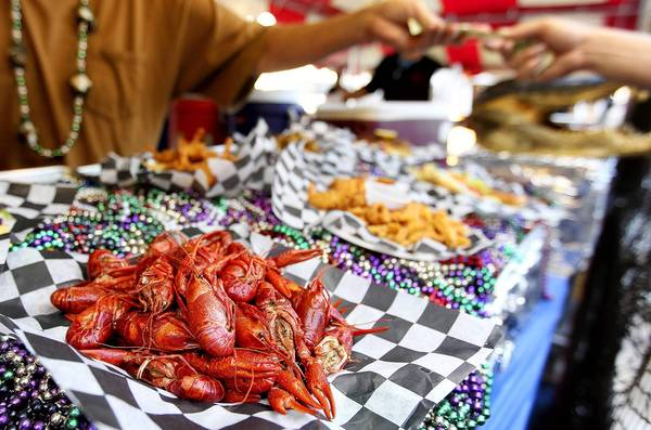 Crawfish was on the menu at the Hammerheads booth at the Poquoson Seafood Festival Saturday. No Mags, No Sales, No Internet, No TV