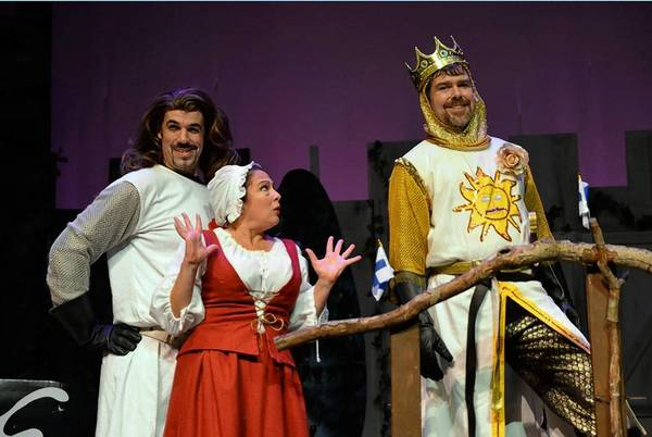 "Carla Mutone, Daily Press business development manager, participated in a recent performance of the ""Spamalot"" at the Kimball Theatre."